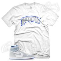 """""""BACKWOODS"""" Sneaker T Shirt for Jordan 1 High Zoom Racer Blue"""