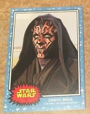 Topps Star Wars Living Set Darth Maul new limited edition no 25 card