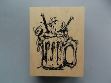 ART IMPRESSIONS RUBBER STAMPS ROOT BEER FLOAT NEW wood STAMP