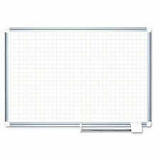 Mastervision Grid Planning Board 1 Grid 72x48 Whitesilver Ma2747830