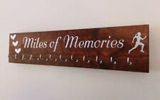 Running/Sports Medal Hanger. 12 hook. Indian Rosewood. Miles Of Memories