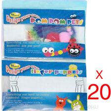 20 x PUPPETS MODEL MAKING CRAFT SET CHILDREN'S CRAFTS KIDS DESIGN YOUR OWN