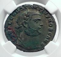 CONSTANTIUS I Chlorus Authentic Ancient Alexandria Roman Coin GENIUS NGC i81691