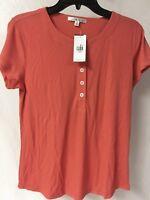 Cabi Women's tee shirt /henley #263 Sunset, Medium