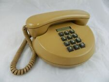 Northern Telecom Push Button Desk Telephone Round Brown MCM MOD Atomic VTG 70s