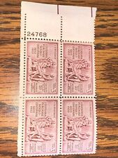 Scott # 1020 - US Plate Block Of 4 - Louisiana Purchase - MNH - 1953