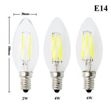 Dimmable E14 E27 2W 4W  6W 8W LED Filament Light Vintage Candle/Globe Bulb White