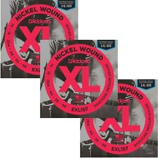3-Sets D'Addario EXL157 Nickel Wound, Baritone Medium, 14-68 Guitar Strings