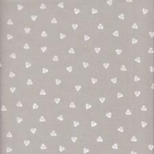 Textiles Français Pearl Grey Hearts French Fabric - 100 Cotton 140 Cm Wide