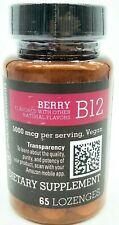 Amazon Elements Vitamin B12 Methylcobalamin 5000mcg, 65 Berry Lozenges