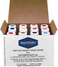 AmeriColor Student Kit 3, Soft Gel Paste, 12 .75 Ounce Bottles