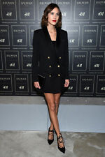 Balmain x H&M Blazer Jacket Tuxedo Dress Wool Featured Gigi Hadid Size 4