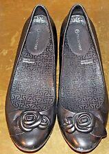 Rockport AdiPRENE Women's SZ 8 Shoes Black Leather Ballet Flats Comfort