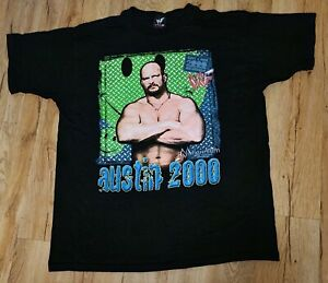 WWF Wrestling Stone Cold Steve Austin 2000 Millennium T-Shirt men's size-XL