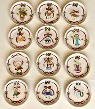 "Twelve Days of Christmas 6.5"" Dessert Plate Set of 12"