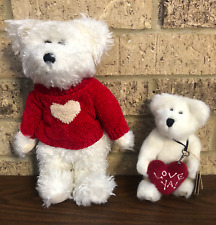 "Boyd's Bears Lot of 2 Plush Bears Juliet Bearlove & Small 6"" Love Ya Heart Bear"