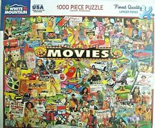 "White Mountain Puzzle NEW SEALED  ""MOVIES""  1000 Piece #1338 NEW & FUN"