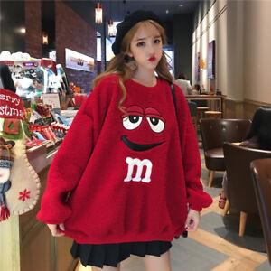 Women Hoodie Sweater Winter Warm Coral Fleece Sweatshirts Pullover Coat Cute Top