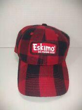 Eskimo Ice Fishing Gear Hat Cap Black & Red Buffalo Plaid