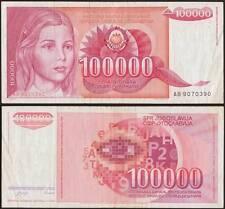 YUGOSLAVIA/JUGOSLAVIA 100000 DINARA 1/5/1989
