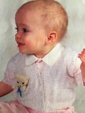 Girls Short Sleeved Cardigan And Waistcoat Knitting Pattern