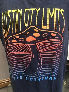 Austin City Limits Music Festival Blue Small T-Shirt Parks Foundation Texas