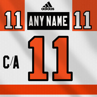 Philadelphia Flyers Adidas White Jersey Any Name Any Number Pro Lettering Kit