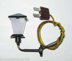 Kahlert 20410 Wandlaterne 3cm Kabel + Stecker 3,5V Puppenhausbeleuchtung NEU!  #