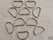 25mm unwelded Metal D Ring Buckles x 10