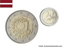 2 Euros Commémorative Lettonie 2015 Drapeau