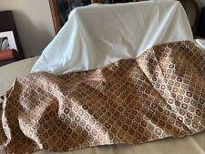 Beautiful Cal King Bedskirt & 2 King Shams Gold Tones Top Quality Fabric & Trim