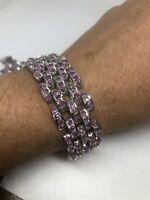 Vintage Ruby Bracelet 925 Sterling Silver