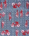 """3/4 Yard Vintage Red White & Blue Early America Cotton Fabric Remnant 27"""" x 45"""""""