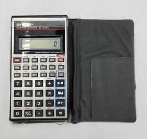 Vintage Sharp Scientific Calculator Model EL-509S With Case Tested Works