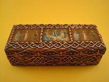 Boîte à bijoux en bois doré style florentin décor fresque religieuse jewelry box