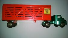 1950's Structo Cattle Truck and Trailer Vintage Toy Pressed Steel