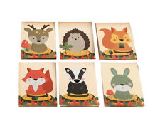 12 x Woodland Animals Design Notepads. Ideal class gift / party bag idea