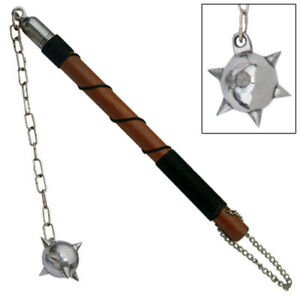 Medieval Gladiator Weapon Single Spiked Metal Mace Ball Flail Morningstar