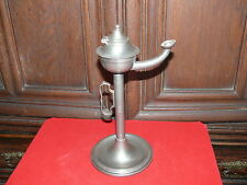 Zinn Öllampe Oellampe Öl Lampe ca. 50 Jahre alt gestempelt Engel mit Schwert