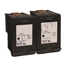 2 CARTUCCCE RIGENERATO PER HP 901XL / CC654AE OfficeJet J4580  J4524  J4624