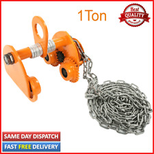 More details for 1ton manual geared beam trolley heavy duty push beam roller with 3meters chain
