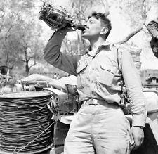 WW2 Photo WWII US Army 10th Mountain Divison Wine Tasting Tour Italy 1944 / 1394