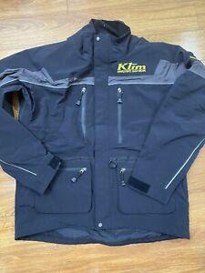 Klim Jacket Coat Aggressive Sled Wear Snowmobile Black Gore-tex Sz XL Men's
