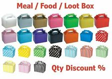 More details for coloured party boxes children kids food loot lunch gift bags birthday box bags