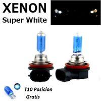 Bombillas H11, luz blanca 100w - 55w, 6000k, en caja original, efecto xenon