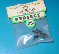 2 Packs Vintage Model Train Perfect HO Parts 402 NMRA Couplers With Springs NOS