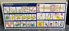 Ryanair Boeing 737 800 Airline Safety Card 2014