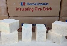 "K-20 Insulating Firebrick 4.5 X 4.5 X .50"" Thermal Ceramics Fire Brick 1/2 inch"