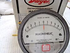 Dwyer Magnehelic 5-0-5  S.C.U.B.A bench tool for fine adjustment of 2nd stages