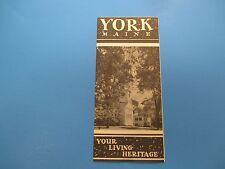 Vintage Travel Brochure, York Maine, Your Living Heritage, S305